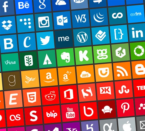 Freebie: Brands Icons And Color Style Guides 100 Icons, PNG | Smashing Magazine